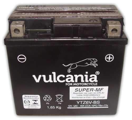 Bateria Vulcania Ytz6v-bs Cg150 Nx150 Xre300 Ybr125 Factor