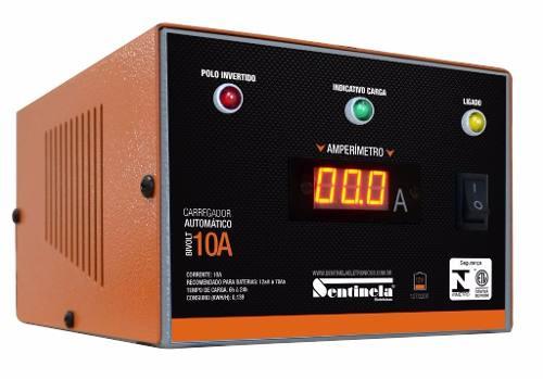 Carregador Bateria Sentinela Inteligente 10ah 12v Digital Flutuante