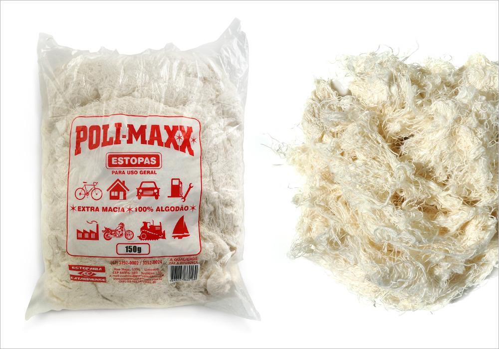 Estopa Para Polimento Com 150 Gramas Profissional Branca