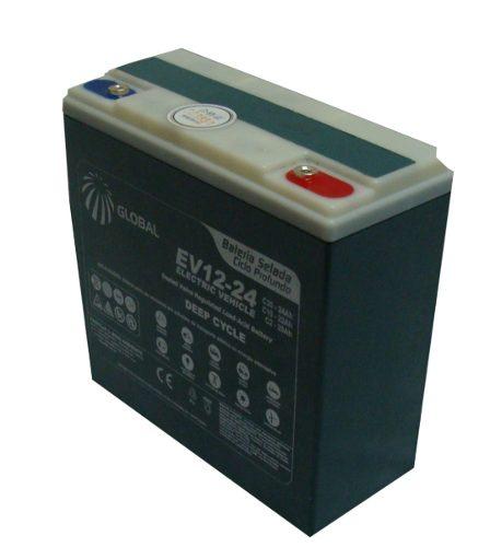 Bateria Global Selada 24ah 12v Tecnologia VRLA / AGM Ciclo Profundo Kit 3 Unidades
