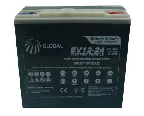 Bateria Global Selada 24ah 12v Tecnologia VRLA / AGM Ciclo Profundo Kit 5 Unidades