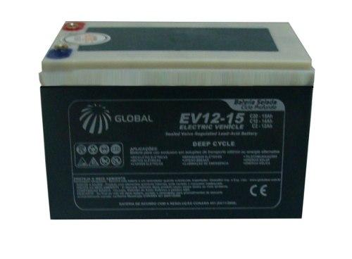 Kit 4 Bateria Gel Global 12v 15ah 48v Scooter Bike Elétrica