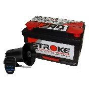 Bateria Som Stroke Power 90ah 12v Sirene Automotiva 7 Tons