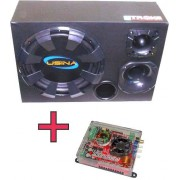 Kit Caixa Trio Usina 550w Rms + Módulo Soundigital Sd400.3d