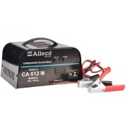 Carregador De Bateria Alleco 6ah 12v C/led Bateria Carregada