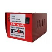 Carregador Bateria Automotiva 12v 5ah Vermelho Carro, Moto, Jet-ski