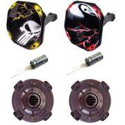 Kit Spyder 2 Driver + 2 Corneta Grafitada + 2 Capacitor!