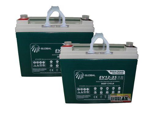 Kit 2 Bateria Selada 12v 35ah Cadeira Rodas Bike Elétrica