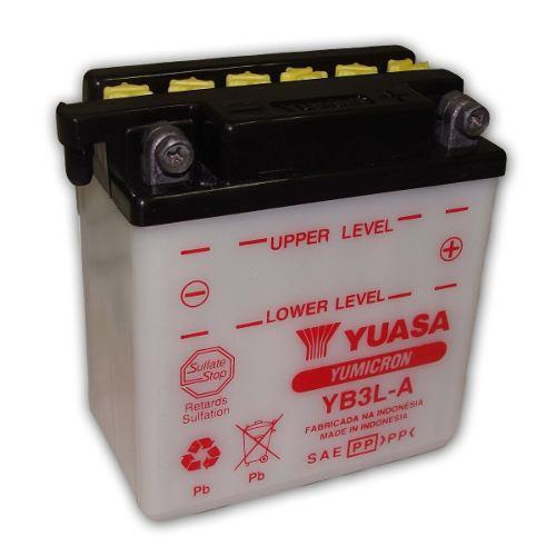 Bateria de Moto Yuasa Yb3l-a 3ah 12v