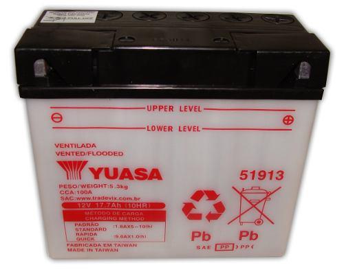 Bateria de Moto Yuasa 51913 17,7ah 12v