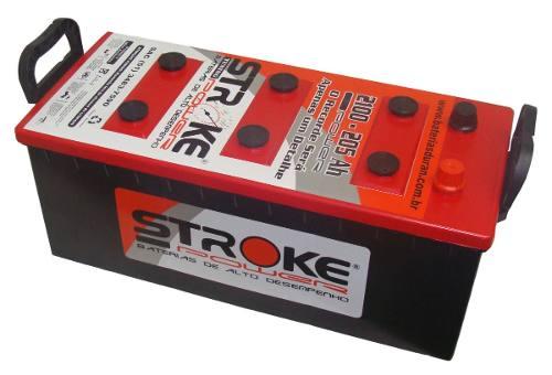 Bateria de Som Stroke Power 205ah/hora e 2100ah/pico
