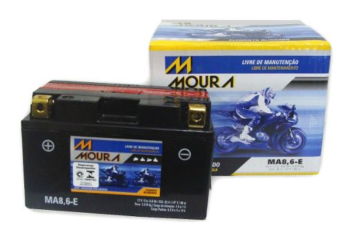 Bateria de Moto Moura Ytz10s 8,6ah 12v Selada (Ma8,6-E)