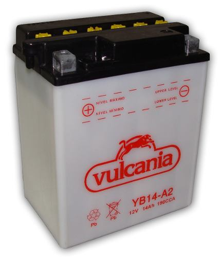 Bateria de Moto Vulcania Yb14-a2 14ah 12v