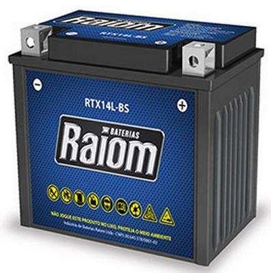 Bateria de Moto Raiom Ytx14l-bs 12ah 12v Selada (Rtx12l-bs)