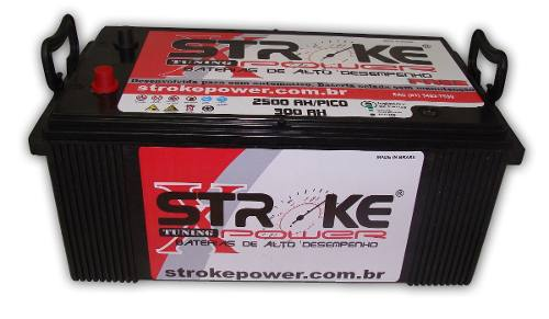 Bateria de Som Stroke Power 300ah/hora e 2500ah/pico Selada