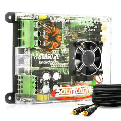 Módulo Amplificador Soundigital Sd250.2d 300WRMS + Cabo