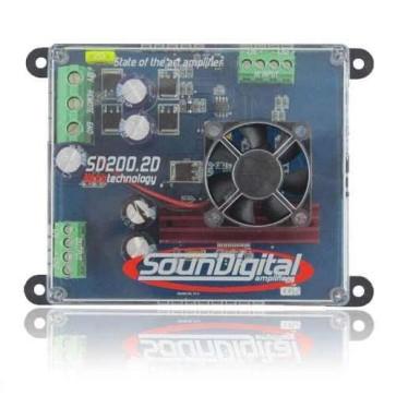Módulo Amplificador Soundigital Sd200.2d 250WRMS + Cabo