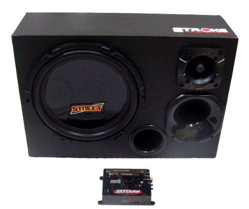 Kit Caixa Trio Street 400w Rms + Módulo Soundigital Sd400.3d