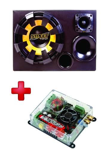 Kit Caixa Trio Street 375w Rms + Módulo Soundigital Sd250.2d