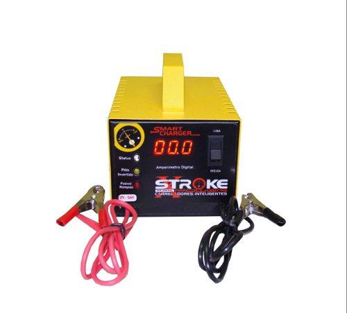 Carregador de Bateria Stroke Power 5ah 12v Inteligente com Amperímetro Digital