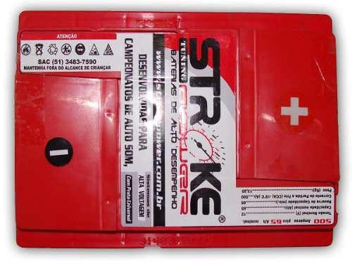 Bateria de Som Stroke Power 65ah/hora e 500ah/pico Universal
