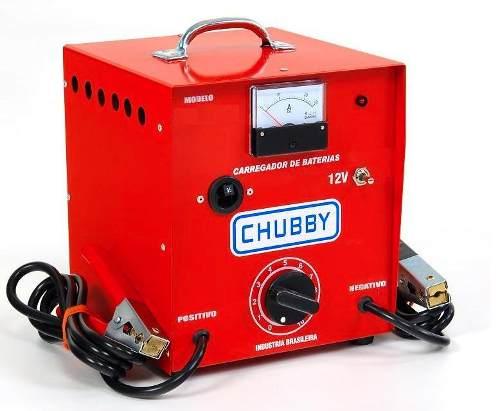 Carregador de Bateria Chubby 30ah 12v com Auxiliar De Partida