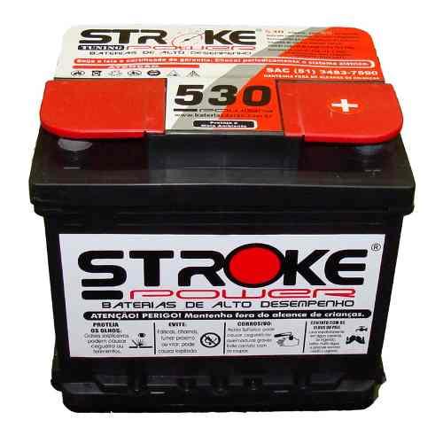 Bateria de Som Stroke Power 65ah/hora e 530ah/pico Selada (Pálio)