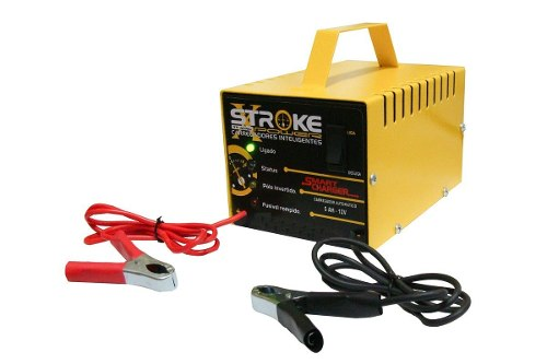 Carregador de Bateria Stroke Power 5ah 12v Inteligente com Led