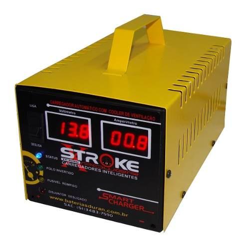 Carregador de Bateria Stroke Power 30ah 24v Inteligente com Amperímetro e Voltímetro Digital