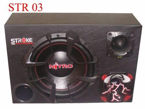 Caixa Som Trio Nitro G4 900 Wrms Sub 12 + Driver + Tweeter