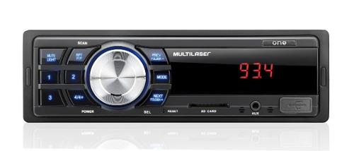 Rádio Automotivo One Multilaser P3213 Mp3 Usb Aux Sd