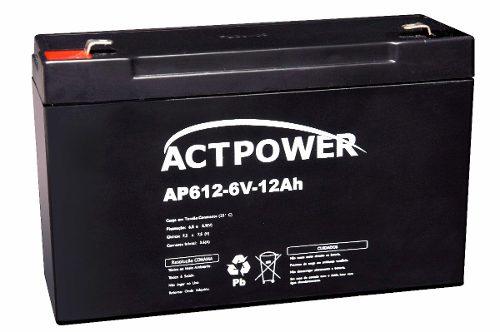 Bateria Selada 12ah 6v Tecnologia Vrla / Agm