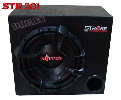 Caixa Som Automotivo Sub 12  Nitro 700w Rms Dutada Mdf 18mm.