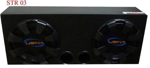 Caixa Som Automotivo Usina 700w Rms Com 2 Sub 12 + 2 Dutos