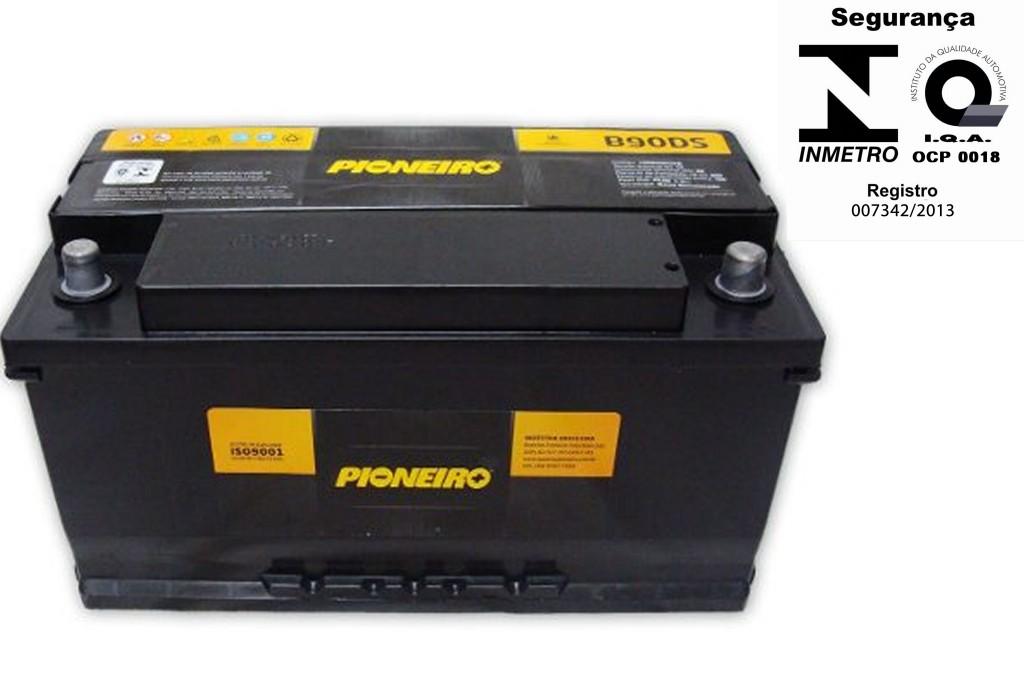 Bateria Automotiva Pioneiro 90ah 12v
