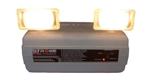 Luminária Emergência 2x55w 4000 Lumens Com Bateria E Suporte
