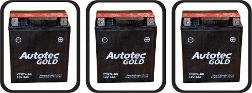 Bateria Moto 6ah Ytx7l-bs Autotec Twister, Intruder, Cg 150