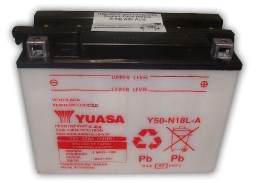Bateria de  Moto Yuasa Y50-n18l-a Gold Wing Vulcan 1100 1500 Zgt