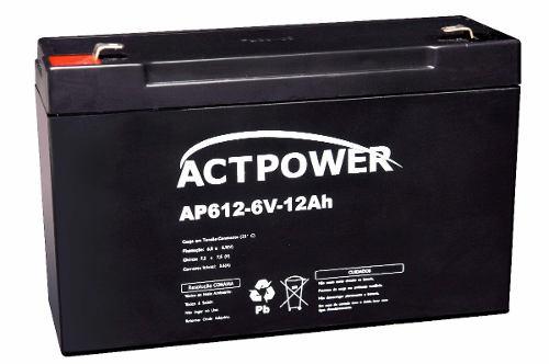 Kit Carregador 6v + Bateria De Gel 6v 12ah Brinquedo Alarme