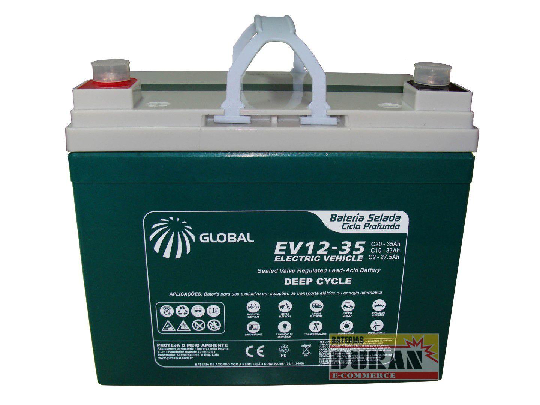Bateria Selada Global 12v 35ah - EV 12-35 - Bike Elétrica
