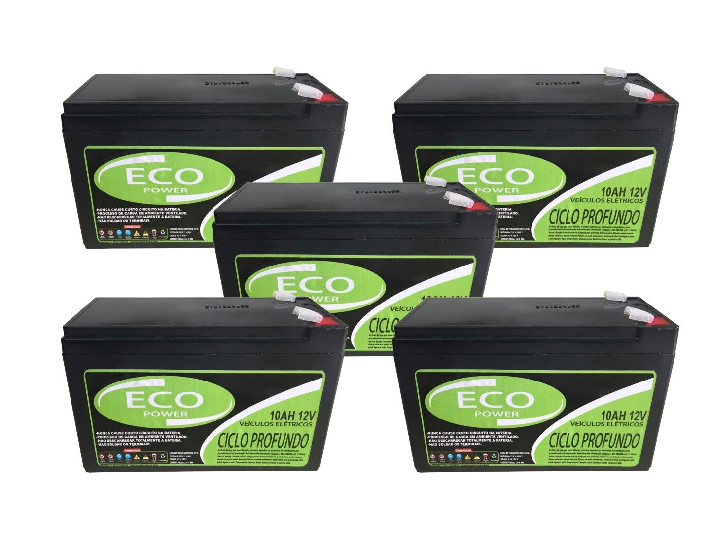 Kit 5un Bateria Selada 10ah 12v Bike Elétrica Ciclo Profundo