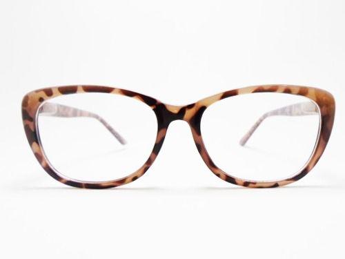 Oculos De Grau Armação Scarllet Oncinha Gatinho Nude
