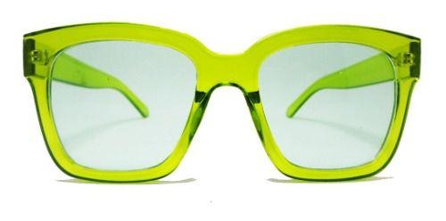 Oculos De Sol Neon Transparente Amarelo Night Visio Green
