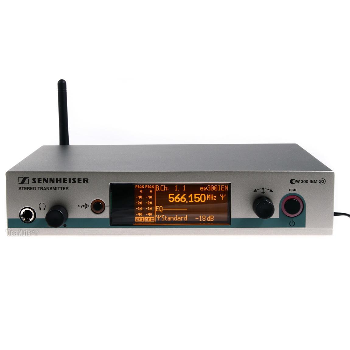 Sennheiser EW 300-2 IEM G3 Sistema Microfone Sem Fio