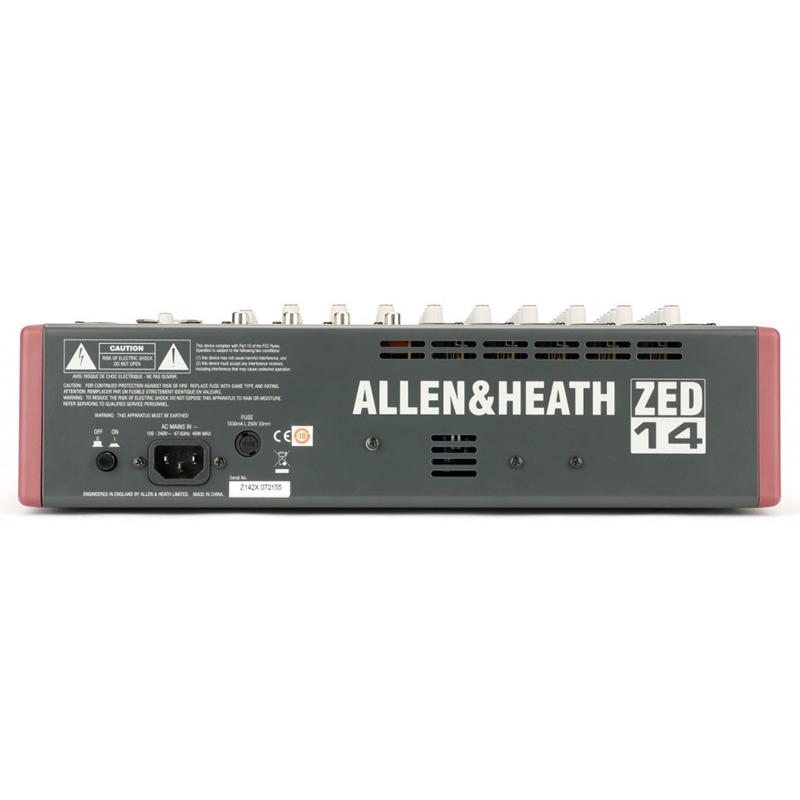 Allen Heath ZED-14 Mesa de Som Analógica 14 Canais, 220v