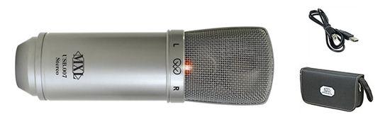 Mxl Usb.007 Microfone Condensador Diafragma Grande, Stereo, Usb