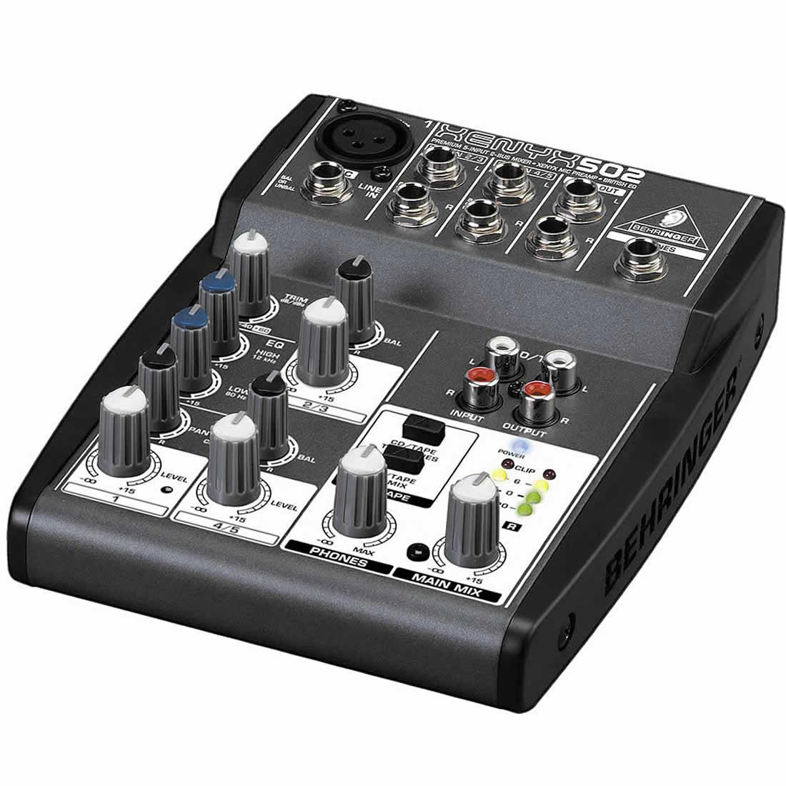 Behringer Xenyx 502 Mesa Mixer, Compacta, 110v