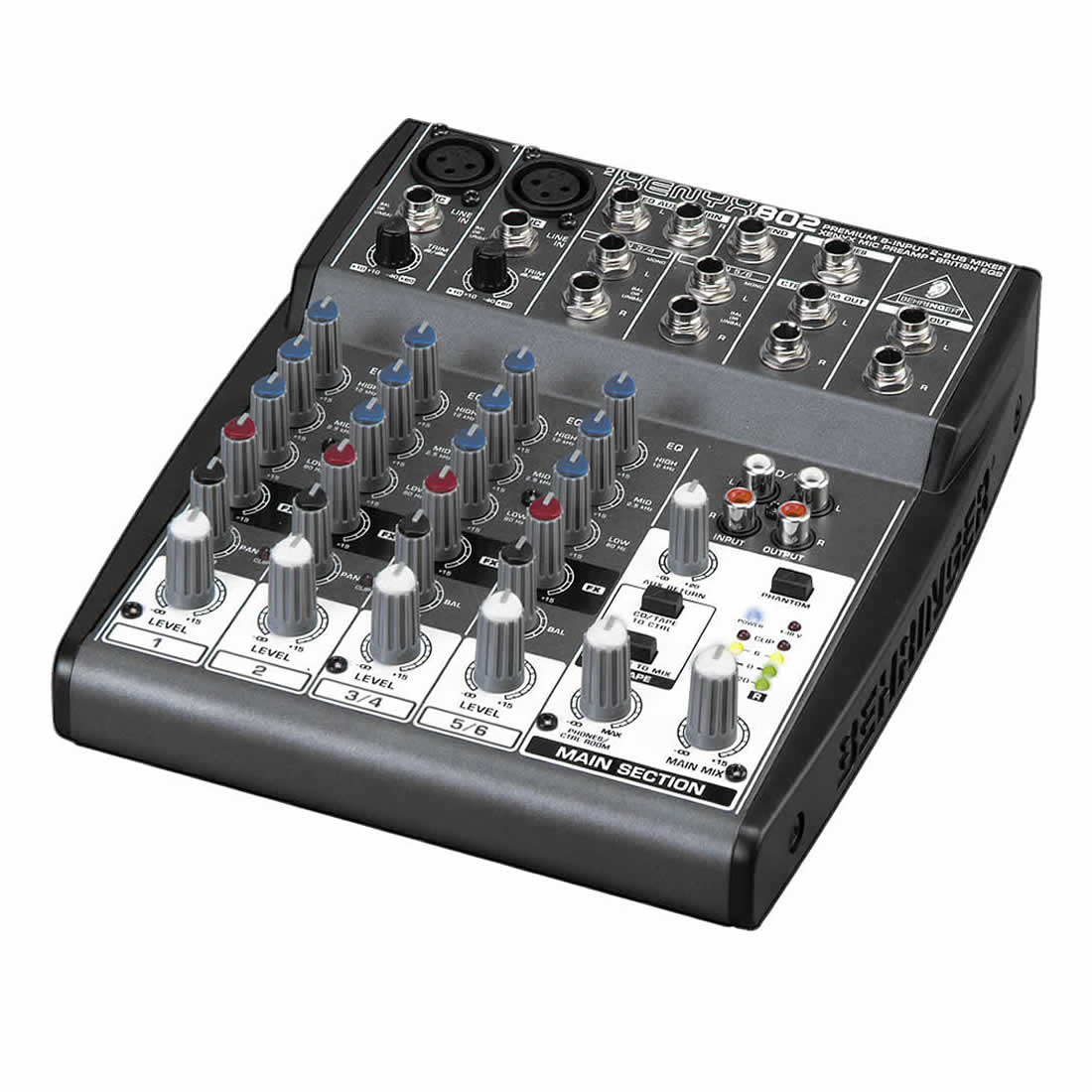 Behringer xenyx 802 mesa mixer 8 canais 110v xenyx 802 for Mesas behringer