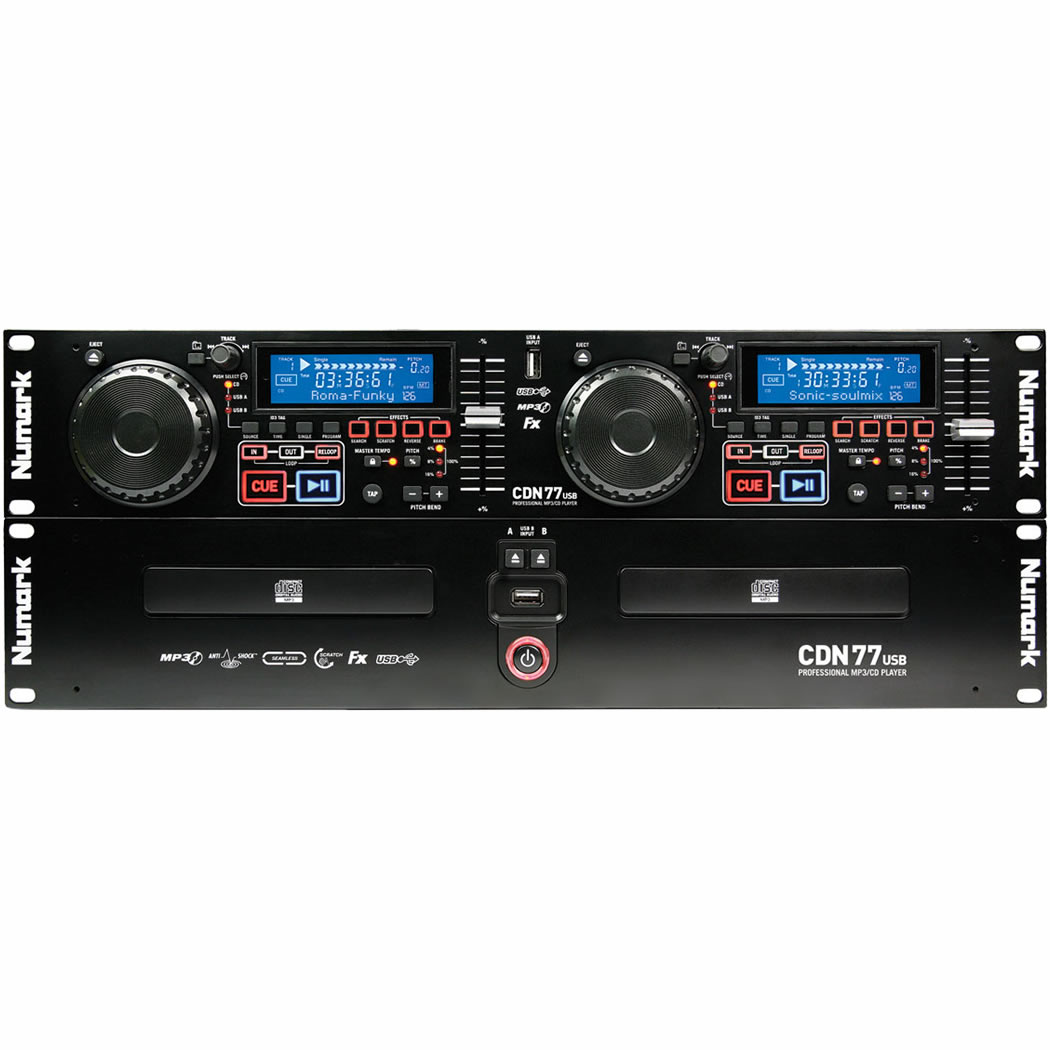 Numark CDN77 Usb Player Duplo, CD/MP3, Bivolt