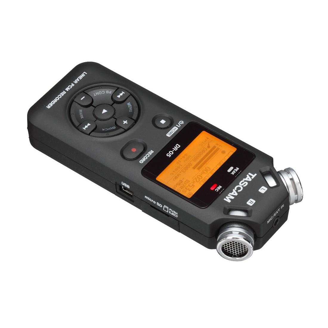Tascam DR-05 Gravador Digital de Áudio Voz, Preto, +4Gb